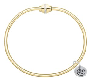 14k Yellow Gold Diamond Cape Cod Bracelet