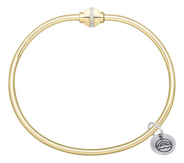 14k Yellow Gold Diamond Cape Cod Bracelet