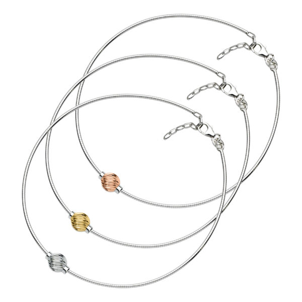 Swirl Cape Cod Anklet - Omega Chain