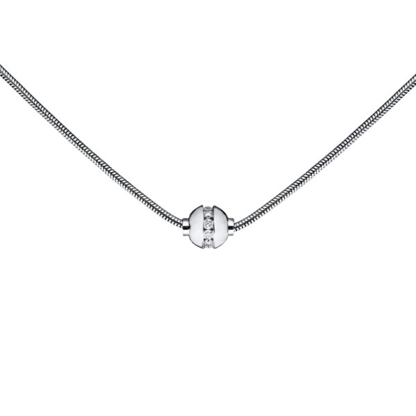 Cubic Zirconia Cape Cod Necklace - Snake Chain