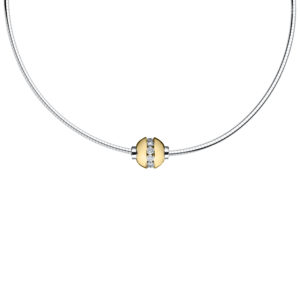 Diamond Cape Cod Necklace -Omega Chain