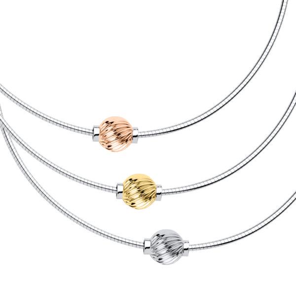 Swirl Cape Cod Necklace - Omega Chain