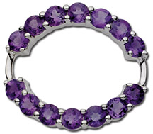Amethyst Endless Love Clasp