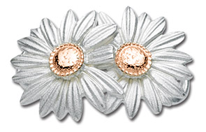 14K Rose Gold Daisies Clasp
