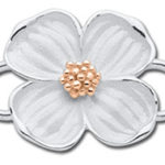 14K Rose Gold Dogwood Clasp