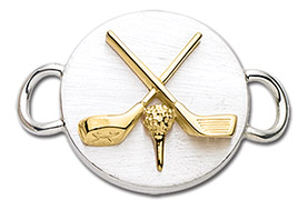 14K Gold Golf Clubs and Ball Clasp
