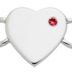 July Heart Birthstone Clasp