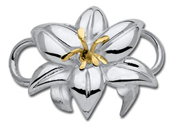 14K Gold Lily Clasp