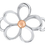 Rose Gold Open Loop Flower Clasp