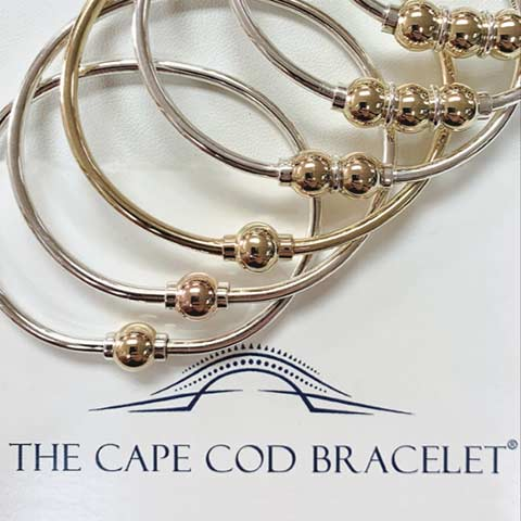 Cape Cod single, double, and triple ball bracelets by LeStage