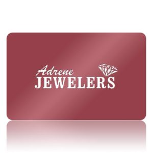 Card with Adrene Jewelers written on it