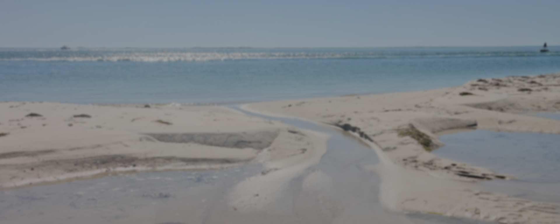 Barnstable Harbor beach and sand