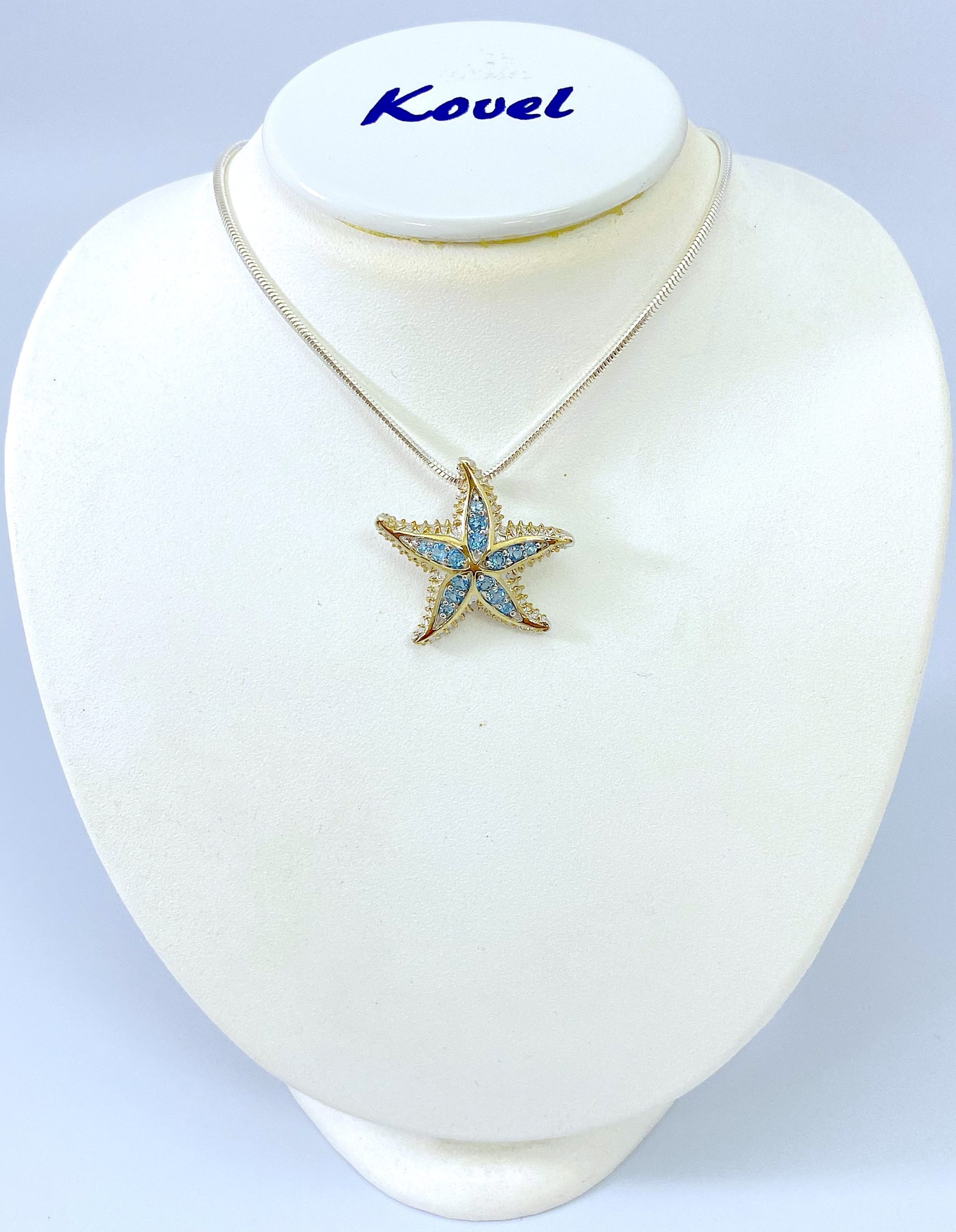 14K Opal Starfish Necklace  Gold Opal Starfish Necklace  Opal Starfish Pendant White Gold or Rose Gold Available in 14k Gold